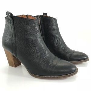 MADEWELL Ankle Boot Billie Leather Zip Heel Bootie